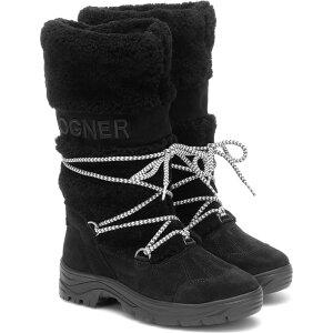 ボグナー BOGNER レディース ブーツ スノーブーツ シューズ・靴【Alta Badia 2 shearling snow boots】Black