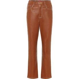 スタウド Staud レディース ボトムス・パンツ レザーパンツ【Eli high-rise faux leather pants】Whiskey