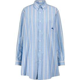 エトロ ETRO レディース ブラウス・シャツ トップス【Striped cotton shirt】Azzurro