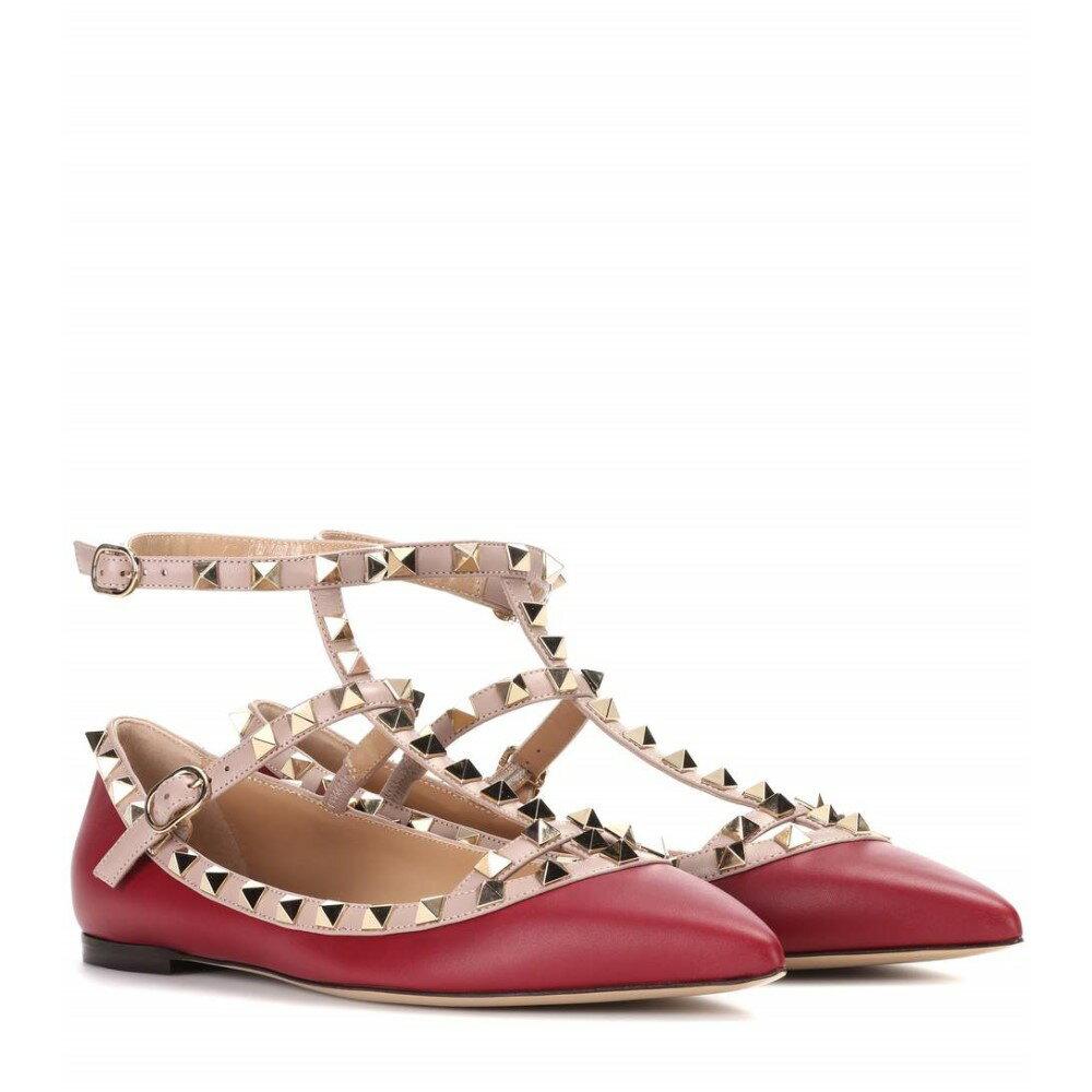 ヴァレンティノ Valentino レディース シューズ・靴 フラット【Valentino Garavani Rockstud leather ballerinas】