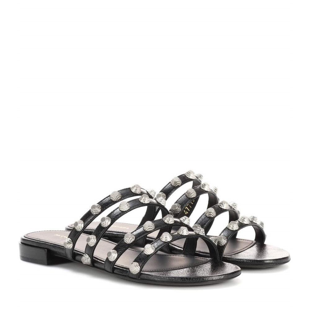 バレンシアガ Balenciaga レディース シューズ・靴 サンダル【Arena leather slip-on sandals】