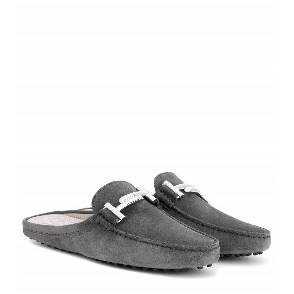トッズ Tod's レディース シューズ・靴 フラット【Gommini Double T suede slippers】