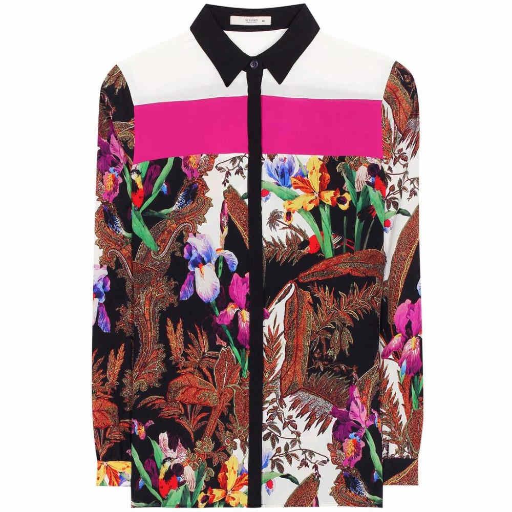 エトロ Etro レディース トップス ブラウス【Printed silk shirt】