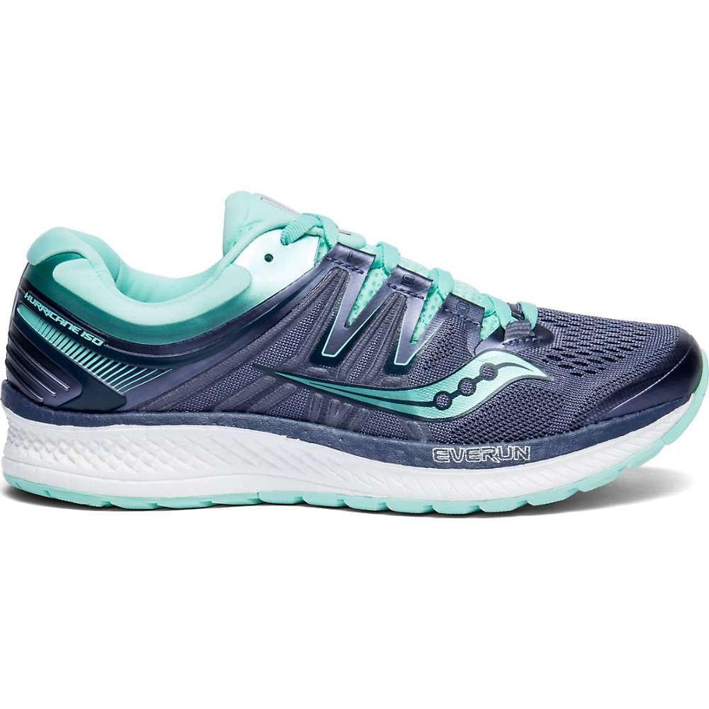 サッカニー Saucony レディース ランニング・ウォーキング シューズ・靴【Hurricane ISO 4 Shoe】Grey / Aqua