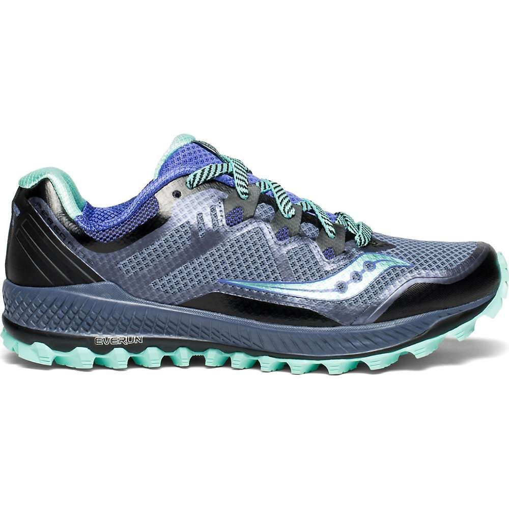 サッカニー Saucony レディース ランニング・ウォーキング シューズ・靴【Peregrine 8 Shoe】Grey / Violet / Aqua