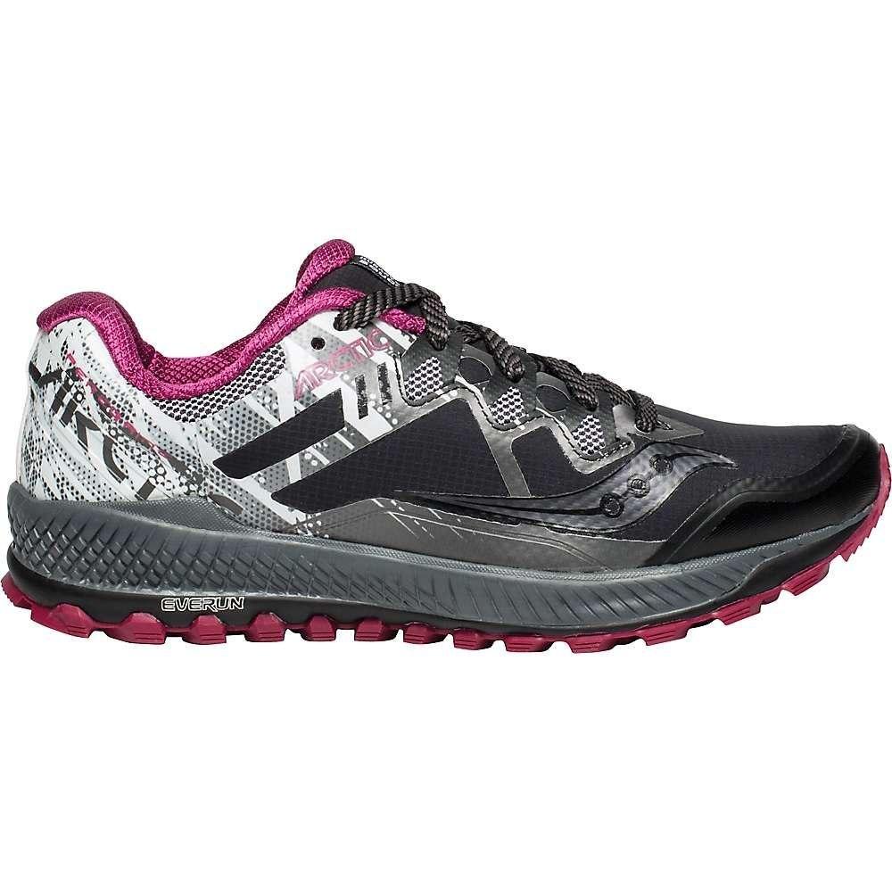 サッカニー Saucony レディース ランニング・ウォーキング シューズ・靴【Peregrine 8 ICE+ Shoe】Black / White / ViziRed