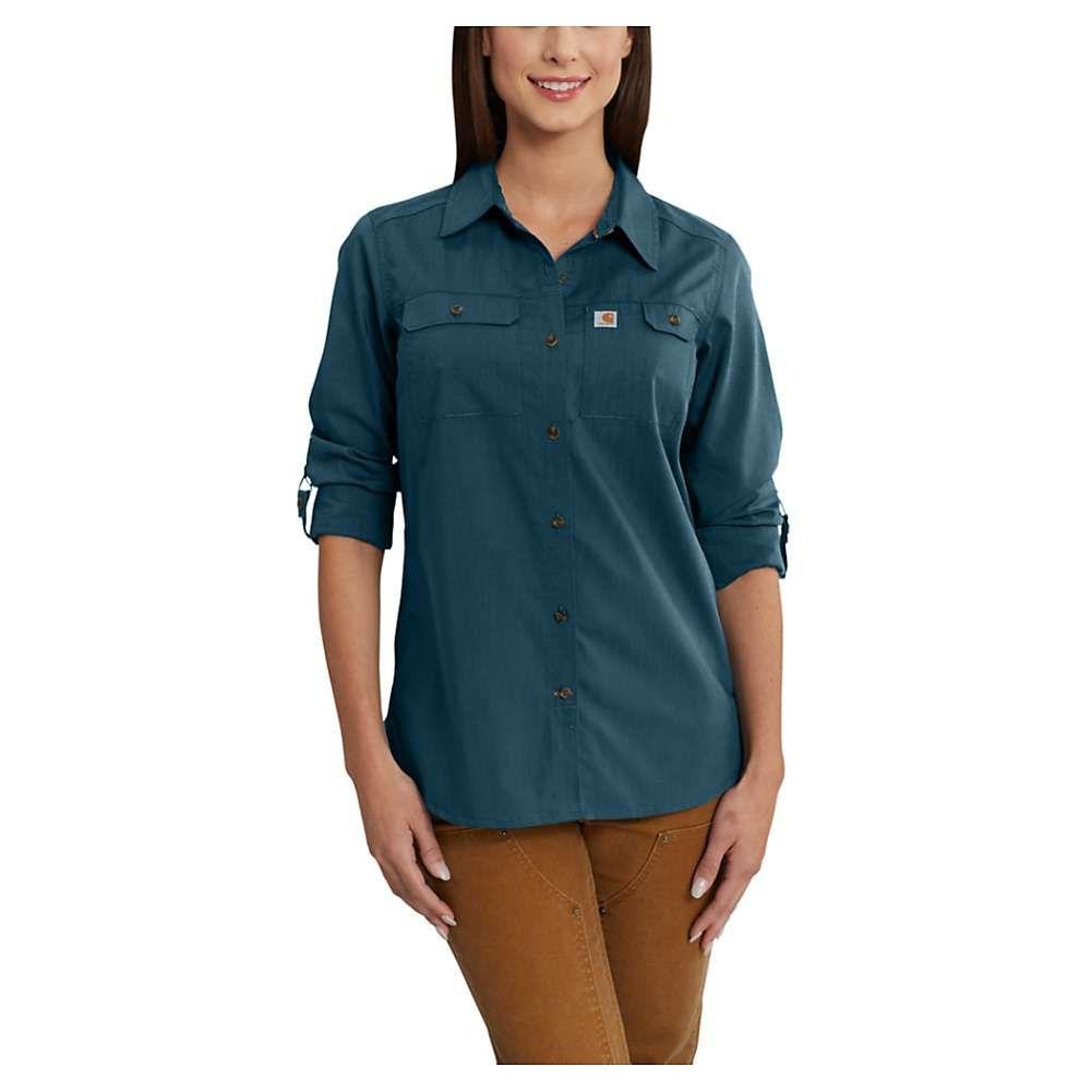 カーハート Carhartt レディース トップス ブラウス・シャツ【Force Ridgefield Shirt】Dark Stream