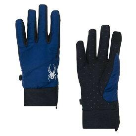 スパイダー Spyder ユニセックス スキー・スノーボード グローブ【Solitude Hybrid Glove】Blue Depths / Black / Black