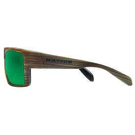 ネイティブ Native ユニセックス メガネ・サングラス【Eldo Polarized Sunglasses】Wood / Black / Black / Green Reflex Polarized