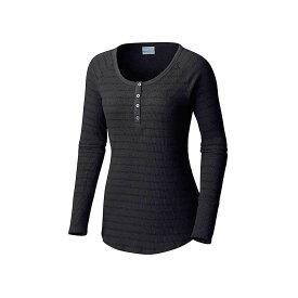 コロンビア Columbia レディース トップス 長袖Tシャツ【Along The Gorge Thermal Henley】Black Heather