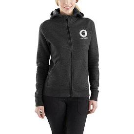 カーハート Carhartt レディース トップス パーカー【Force Delmont Graphic Zip-Front Hooded Sweatshirt】Black Heather