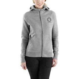 カーハート Carhartt レディース トップス パーカー【Force Delmont Graphic Zip-Front Hooded Sweatshirt】Asphalt Heather