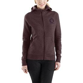 カーハート Carhartt レディース トップス パーカー【Force Delmont Graphic Zip-Front Hooded Sweatshirt】Fudge Heather