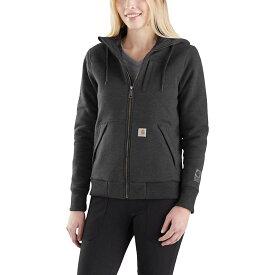 カーハート Carhartt レディース トップス パーカー【Rain Defender Rockland Quilt-Lined Full-Zip Hooded Sweatshirt】Carbon Heather