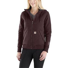 カーハート Carhartt レディース トップス パーカー【Rain Defender Rockland Quilt-Lined Full-Zip Hooded Sweatshirt】Fudge Heather