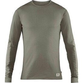 フェールラーベン Fjallraven レディース トップス 長袖Tシャツ【Keb Wool Long Sleeve T-Shirt】Light Grey-Grey