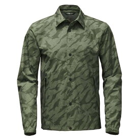 ザ ノースフェイス The North Face メンズ アウター レインコート【Coaches Rain Jacket】Deep Lichen Green Marker Mountain Print