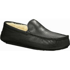 アグ Ugg メンズ シューズ・靴 スリッパ【Ascot Leather Slipper】Black