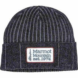 マーモット Marmot ユニセックス 帽子 ニット【Retro Trucker Beanie】Black/Steel Onyx