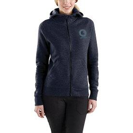 カーハート Carhartt レディース トップス パーカー【Force Delmont Graphic Zip-Front Hooded Sweatshirt】Navy Heather