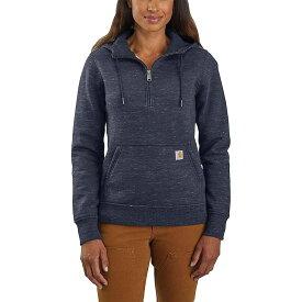 カーハート Carhartt レディース トップス パーカー【Clarksburg Half-Zip Hooded Sweatshirt】Navy Space Dye