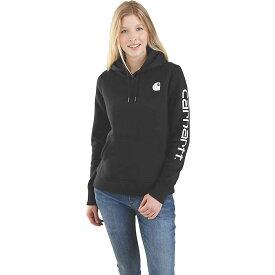 カーハート Carhartt レディース トップス パーカー【Clarksburg Graphic Sleeve Pullover Sweatshirt】Black