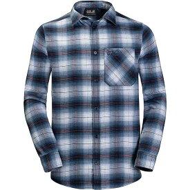 ジャックウルフスキン Jack Wolfskin メンズ ハイキング・登山 トップス【Light Valley Shirt】Night Blue Checks
