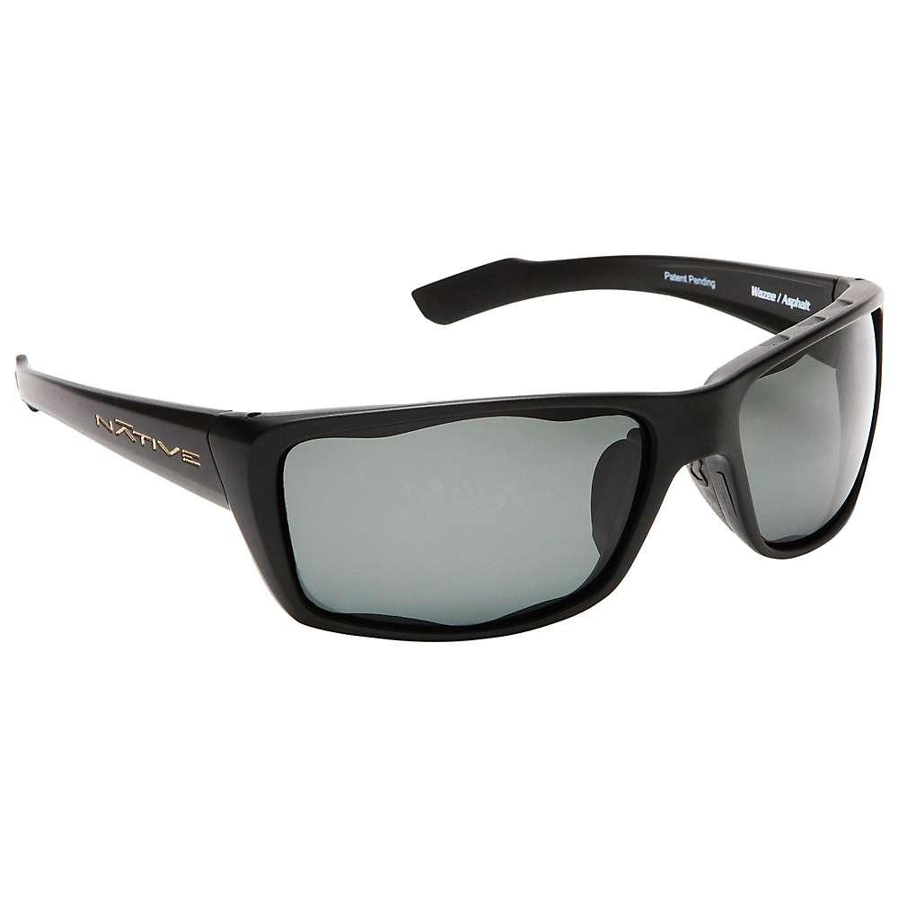 ネイティブ メンズ アクセサリー メガネ・サングラス【Native Wazee Polarized Sunglasses】Matte Black / Grey Polarized