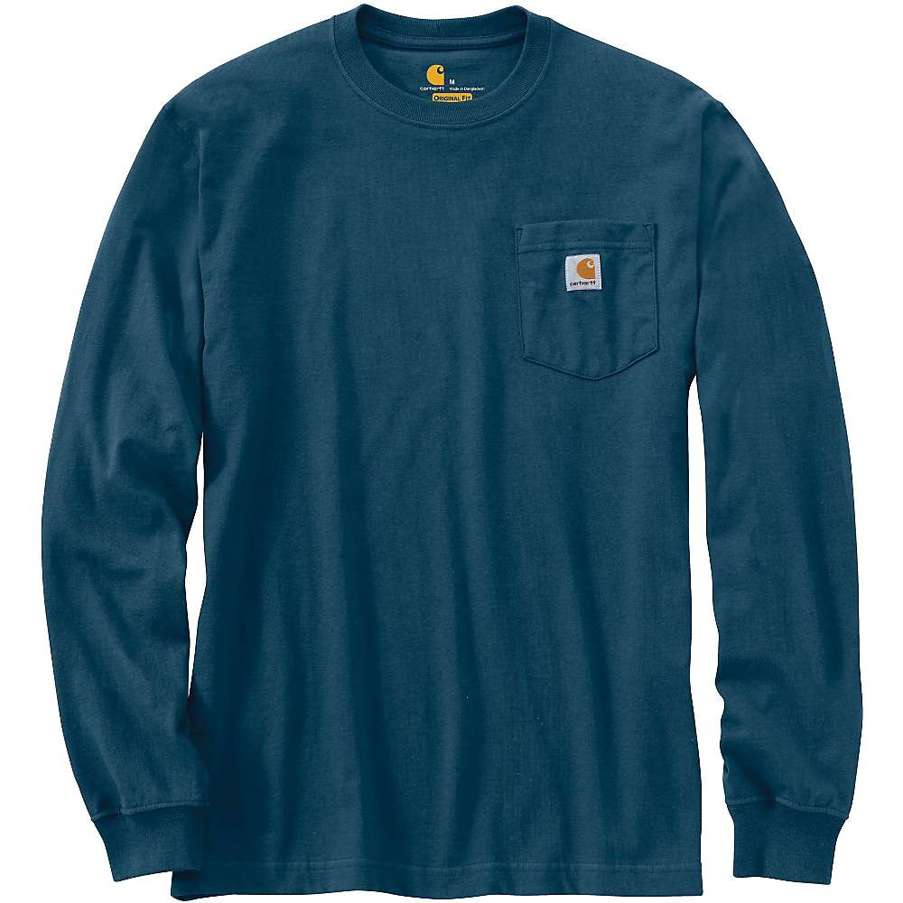 カーハート メンズ トップス 長袖シャツ【Carhartt Workwear Pocket Long Sleeve T-Shirt】Stream Blue