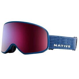 ネイティブ Native ユニセックス スキー・スノーボード ゴーグル【Tenmile Polarized Goggle】Cobalt/SnowTuned Rose Blue