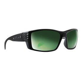ネイティブ Native ユニセックス 自転車 【Raghorn Polarized Sunglasses】Matte Black/Green Reflex Polarized