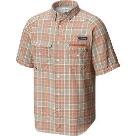 コロンビア Columbia メンズ ハイキング・登山 半袖シャツ トップス【flycaster ss shirt】Island Orange Plaid