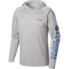 コロンビア Columbia メンズ 釣り・フィッシング トップス【terminal tackle hoodie】Cool Grey/Vivid Blue Logo