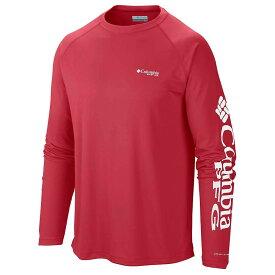 コロンビア Columbia メンズ 釣り・フィッシング トップス【terminal tackle ls shirt】Sunset Red/White