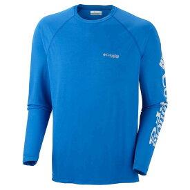 コロンビア Columbia メンズ 釣り・フィッシング トップス【terminal tackle ls shirt】Vivid Blue/Jupiter