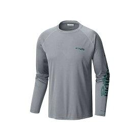 コロンビア Columbia メンズ 釣り・フィッシング トップス【terminal tackle ls shirt】Cool Grey/Thyme Green Logo