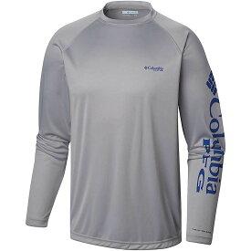 コロンビア Columbia メンズ 釣り・フィッシング トップス【terminal tackle ls shirt】Cool Grey/Vivid Blue Logo