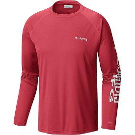 コロンビア Columbia メンズ 釣り・フィッシング トップス【terminal tackle ls shirt】Sunset Red/Atoll Logo