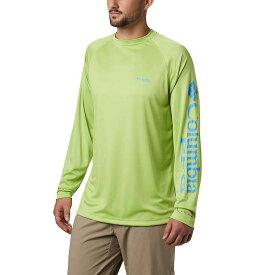 コロンビア Columbia メンズ 釣り・フィッシング トップス【terminal tackle ls shirt】Green Glow/Yacht Logo
