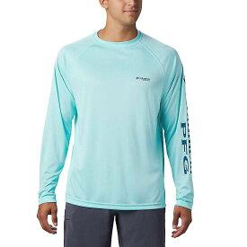 コロンビア Columbia メンズ 釣り・フィッシング トップス【terminal tackle ls shirt】Gulf Stream/Dark Turquoise Logo