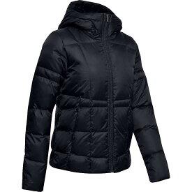 アンダーアーマー Under Armour レディース ダウン・中綿ジャケット フード アウター【armour down hooded jacket】Black/Jet Grey