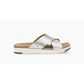 アグ Ugg レディース サンダル・ミュール シューズ・靴【kari metallic sandal】Silver