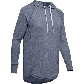 アンダーアーマー Under Armour レディース パーカー トップス【waffle hoodie】Downpour Grey/Blue Heights