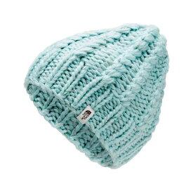 ザ ノースフェイス The North Face レディース ニット ビーニー 帽子【chunky knit beanie】Windmill Blue/Vintage White Multi