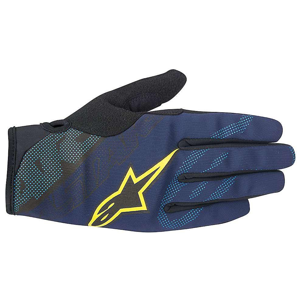 アルパインスターズ メンズ アクセサリー 手袋【Alpine Stars Stratus Glove】Deep Blue / Acid Yellow