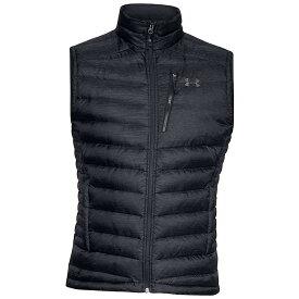 アンダーアーマー Under Armour メンズ ベスト・ジレ ダウンベスト トップス【iso down sweater vest】Black/Black/Charcoal