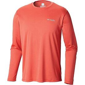 コロンビア Columbia メンズ 釣り・フィッシング トップス【PFG Zero Rules LS Shirt】Sunset Red