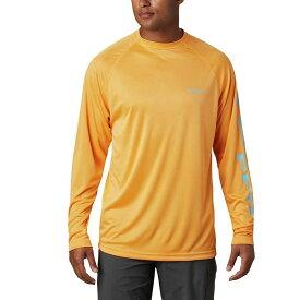 コロンビア Columbia メンズ 釣り・フィッシング トップス【Terminal Tackle LS Shirt】Summer Orange/Riptide Logo