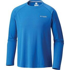 コロンビア Columbia メンズ 釣り・フィッシング トップス【Cast Away Zero II Knit LS Shirt】Vivid Blue/Cool Grey