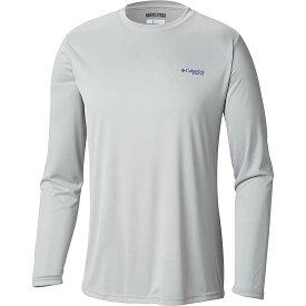 コロンビア Columbia メンズ 釣り・フィッシング トップス【Terminal Tackle PFG Triangle LS Shirt】Cool Grey/Vivid Blue Logo